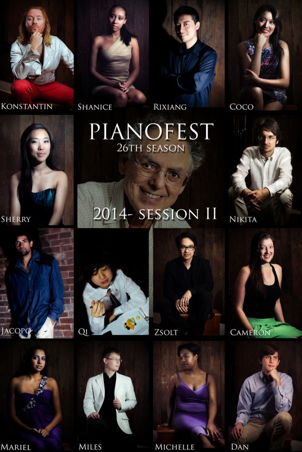 PianoFest 2014 Fellows, photos by...me!